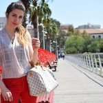 Red Pants Outfit in Valencia