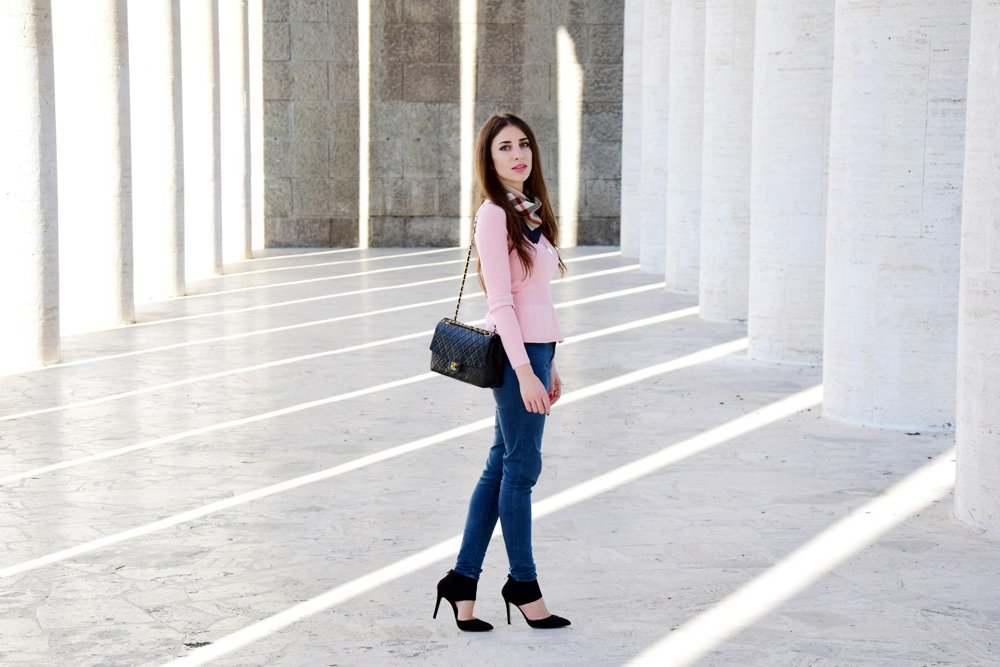 pink and black outfit ideas